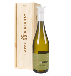 Sauvignon Blanc Chilean White Wine Birthday Gift In Wooden Box