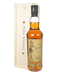 Sailor Jerry Rum Thank You Gift In Wooden Box