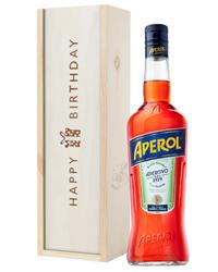 Aperol Spritz Birthday Gift In Wooden Box