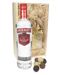 Smirnoff Red Label Vodka and Luxury Chocolate Gift