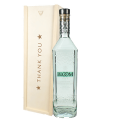 Bloom Gin Thank You Gift In Wooden Box