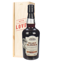 Peaky Blinder Spiced Rum Valentines Day Gift