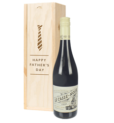 French Syrah Red Wine Fathers Day Gift In Wooden Box