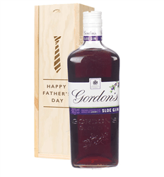 Gordons Sloe Gin Fathers Day Gift In Wooden Box