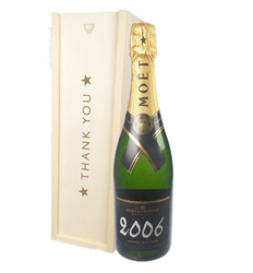 Moet et Chandon Vintage Thank You Gift In Wooden Box