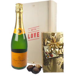 Veuve Clicquot Valentines Champagne and Chocolates Gift Box