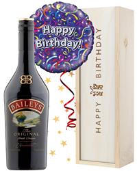 Baileys and Balloon Birthday Gift