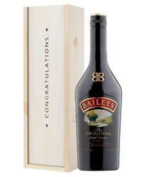 Baileys Original Congratulations Gift In Wooden Box