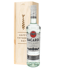 Bacardi Rum Fathers Day Gift In Wooden Box
