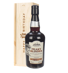 Peaky Blinder Spiced Rum Birthday Gift In Wooden Box
