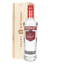 Smirnoff Red Label Vodka Birthday Gift In Wooden Box