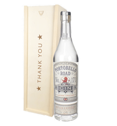 Portobello Road Gin Thank You Gift In Wooden Box