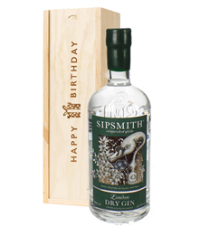 Sipsmith Gin Birthday Gift In Wooden Box