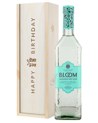 Bloom Gin Birthday Gift In Wooden Box
