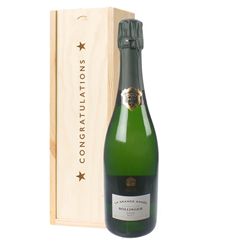 Bollinger Grande Annee Vintage Congratulations Gift In Wooden Box
