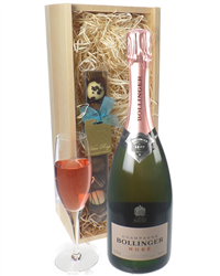 Bollinger Rose Champagne And Chocol...