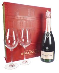 Bollinger Rose Red Flute Set