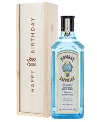 Bombay Sapphire Gin Birthday Gift In Wooden Box