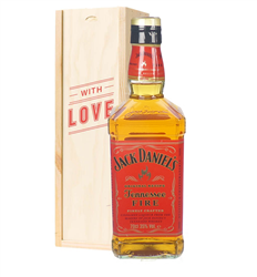 Jack Daniels Fire Whiskey Valentines Day Gift