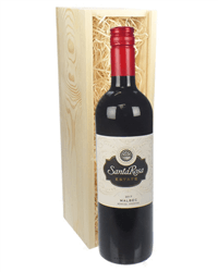 Argentinian Malbec Red Wine Gift in Wooden Box