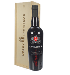 Taylors First Reserve Port Christmas Gift In Wooden Box