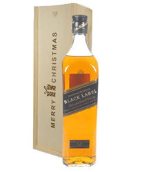 Johnnie Walker Black Label Whisky Christmas Gift In Wooden Box
