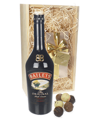 Baileys Original and Chocolates Gift Set in Wooden Box