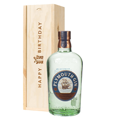 Plymouth Gin Congratulations Gift In Wooden Box