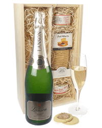 Lanson Gold Label Champagne & Gourmet Food Gift Box