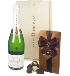 Pol Roger Champagne and Chocolates Birthday Gift Box