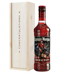 Captain Morgan Rum Congratulations Gift In Wooden Box