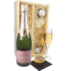 Lanson Rose Champagne & Gourmet Food Gift Box
