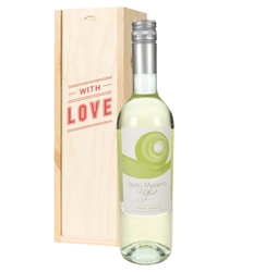 Pinot Grigio White Wine Valentines With Love Special Gift Box