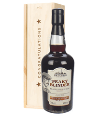 Peaky Blinder Spiced Rum Congratulations Gift In Wooden Box