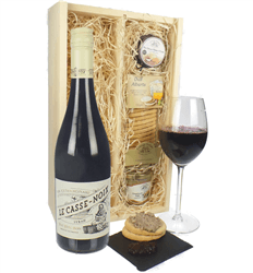 French Syrah Wine & Gourmet Food Gift Box