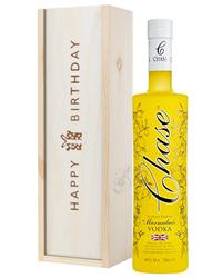 Chase Eureka Lemon Marmalade Vodka Birthday Gift In Wooden Box