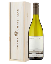 Cloudy Bay Sauvignon Blanc White Wine Single Bottle Christmas Gift In Wooden Box