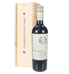 Cabernet Sauvignon Chilean Red Wine Congratulations Gift In Wooden Box