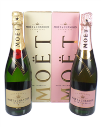 Moet And Chandon Champagne Two Bottle Gift Box Moet And Moet Rose