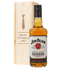 Jim Beam Kentucky Bourbon Whiskey Fathers Day Gift In Wooden Box