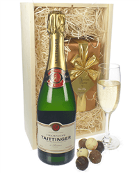 Taittinger Champagne & Belgian Chocolates Gift Box