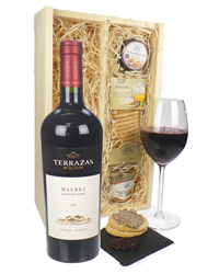 Terrazas Reserva Malbec Wine And Gourmet Food Gift Box