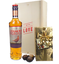 Famous Grouse Whisky And Chocolates Valentines Gift