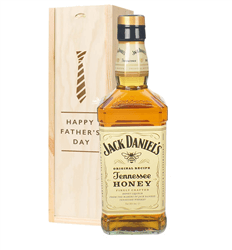 Jack Daniels Honey Whiskey Fathers Day Gift In Wooden Box