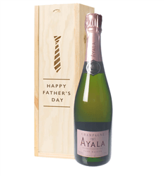 Ayala Rose Champagne Fathers Day Gift In Wooden Box
