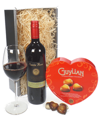 Red Wine Valentines Gift