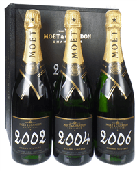 Moet Grand Vintage Champagne Triple Set