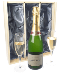 Laurent Perrier Champagne Gift Set With Flute Glasses