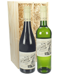Mixed French Two Bottle Wine Gift in Wooden Box