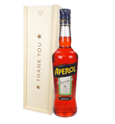 Aperol Spritz Thank You Gift In Wooden Box